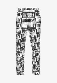 Obey Clothing - SPLASH PANT - Kalhoty - black/white - 3