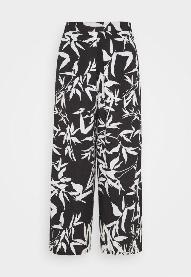 KAIA CROPPED PANT - Kalhoty - black/multi