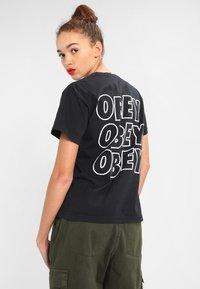 Obey Clothing - JUMBLE  - Triko spotiskem - off black - 0