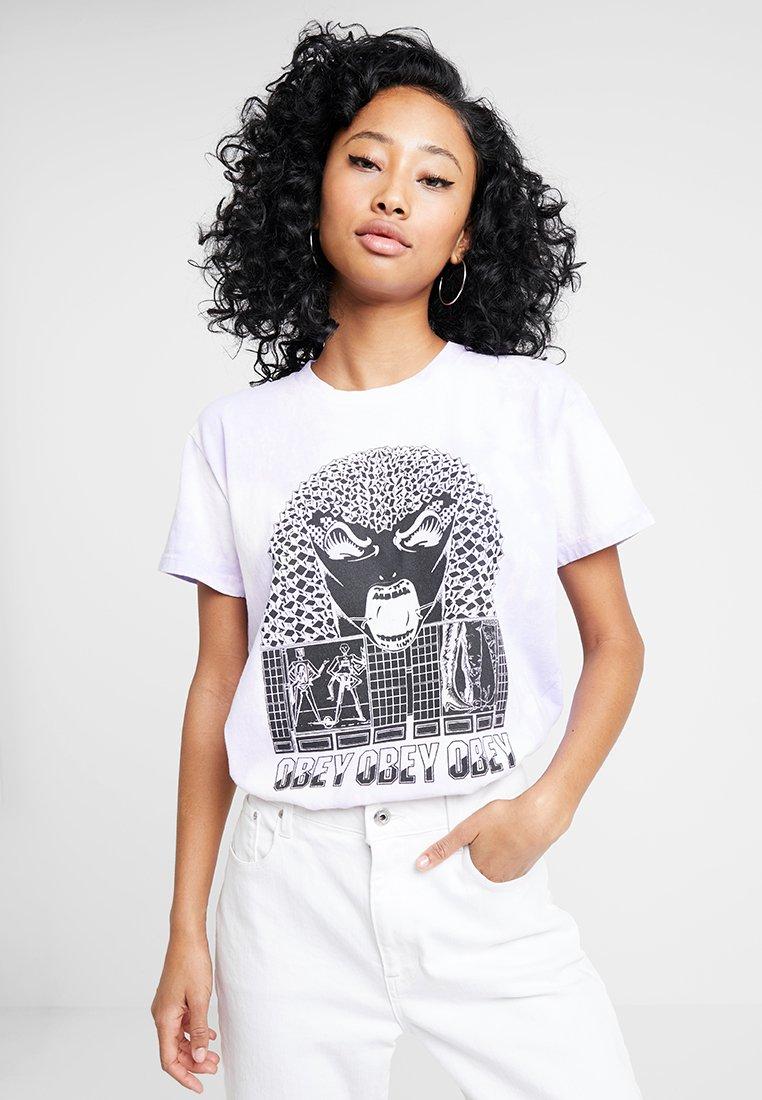Obey Clothing - PERMAPOCALYPSE - Print T-shirt - lavender