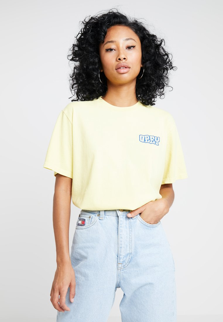 Obey Clothing - SEVEN FOUR - T-Shirt print - yellow