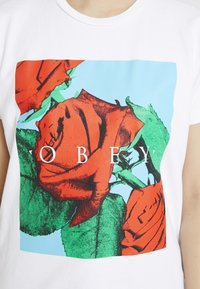 Obey Clothing - NO LOVE LOST - Camiseta estampada - white