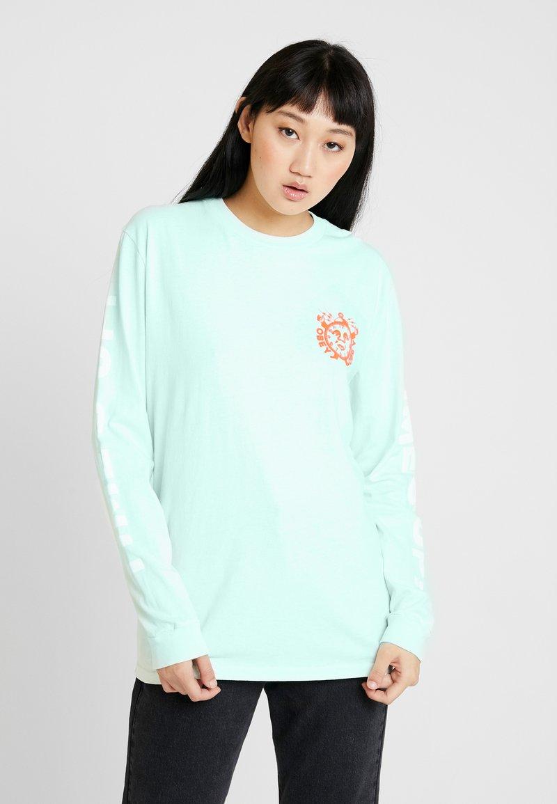 Obey Clothing - TIMES UP - Camiseta de manga larga - dusty pacific blue