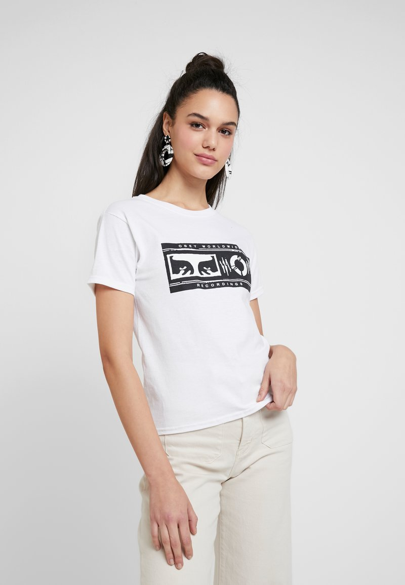 Obey Clothing - WORLDWIDE RECORDINGS - T-Shirt print - white