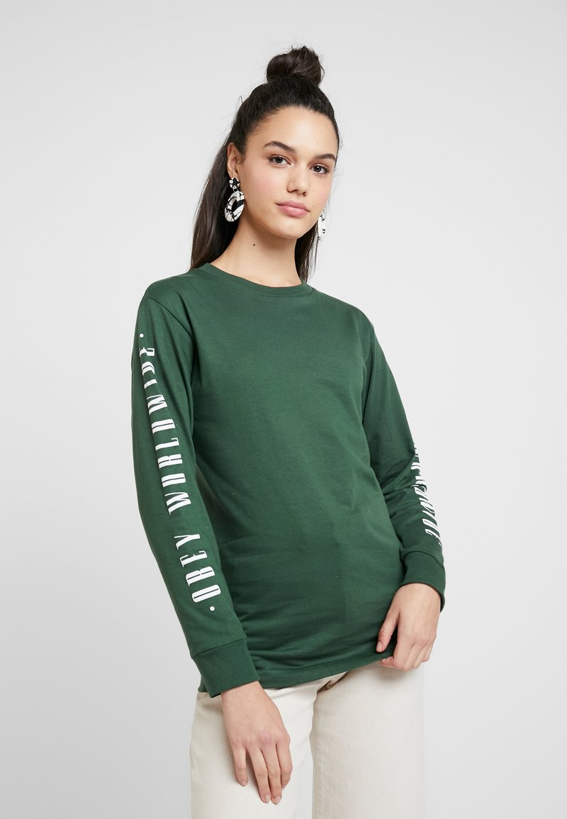 Obey Clothing - WORLDWIDE JOURNAL - Top s dlouhým rukávem - forest