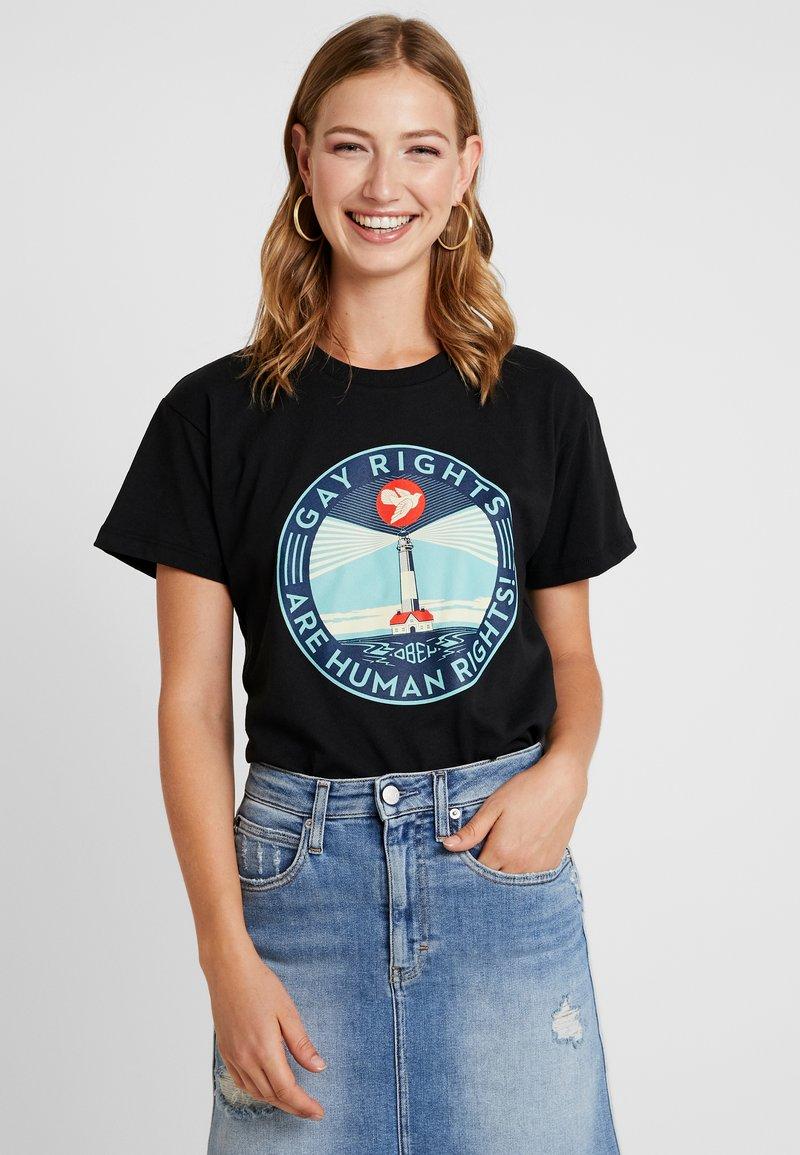 Obey Clothing - FIRE ISLAND - Print T-shirt - black