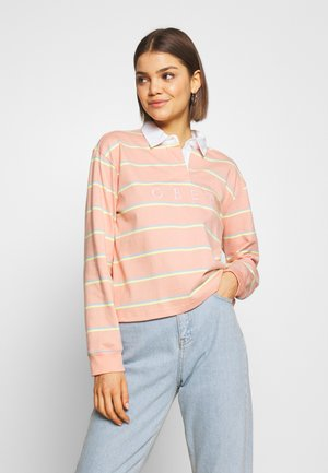 NOBLE CROPPED RUGBY - Topper langermet - coral multi