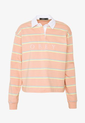 NOBLE CROPPED RUGBY - Longsleeve - coral multi