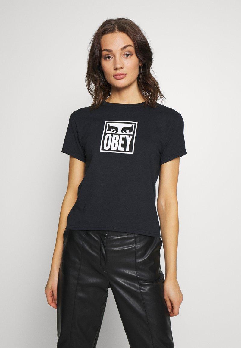 Obey Clothing - EYES ICON - Triko spotiskem - black