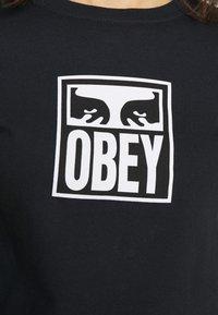 Obey Clothing - EYES ICON - Triko spotiskem - black - 6