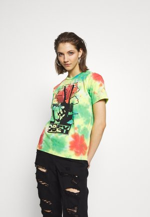 GIVE PEACE CHANCE - T-shirts med print - rainbow blotch