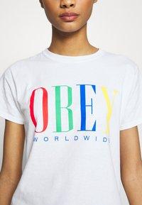 Obey Clothing - CHESS KING - Triko spotiskem - white - 4
