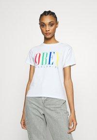 Obey Clothing - CHESS KING - Triko spotiskem - white - 0