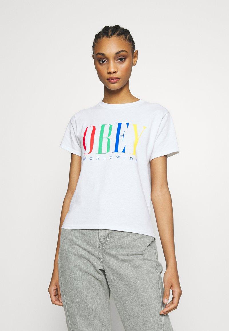 Obey Clothing - CHESS KING - Triko spotiskem - white
