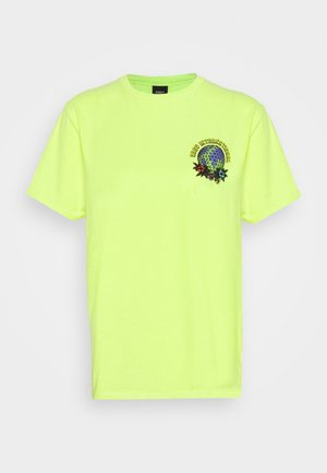 TAKE BACK THE PLANET - Camiseta estampada - neon yellow