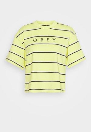RONNY BOX TEE - Print T-shirt - lemon/multi