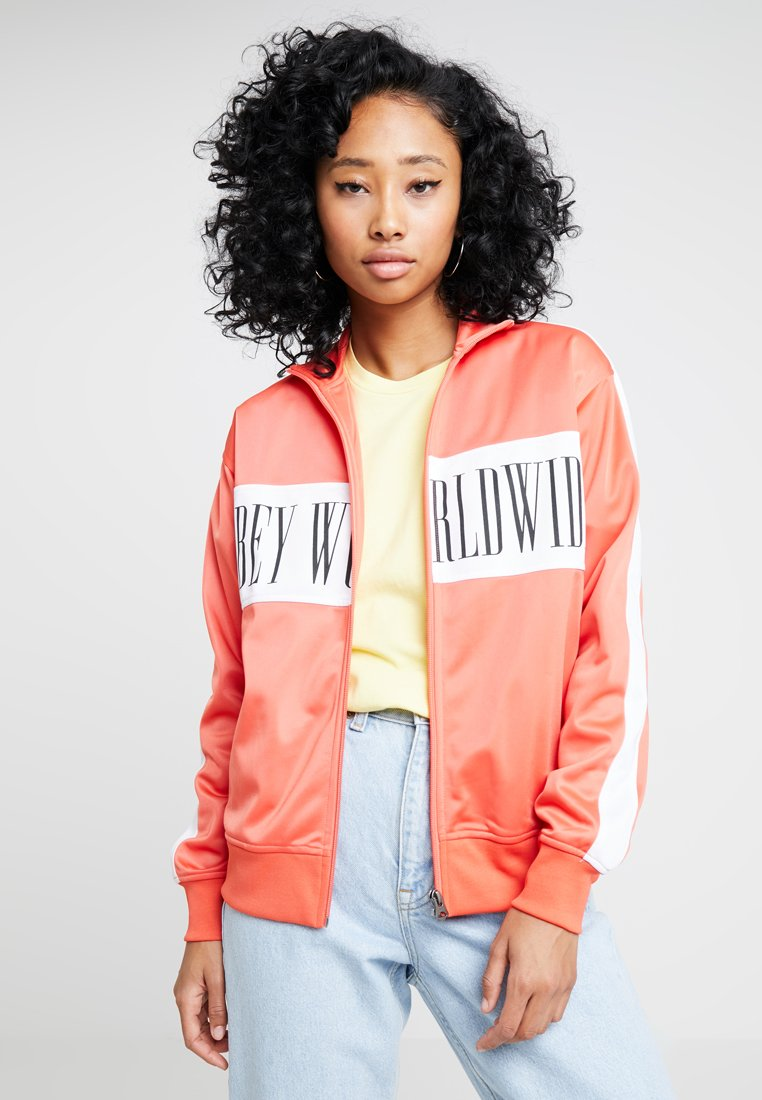 Obey Clothing - CASHED OUT ZIP - Trainingsjacke - coral
