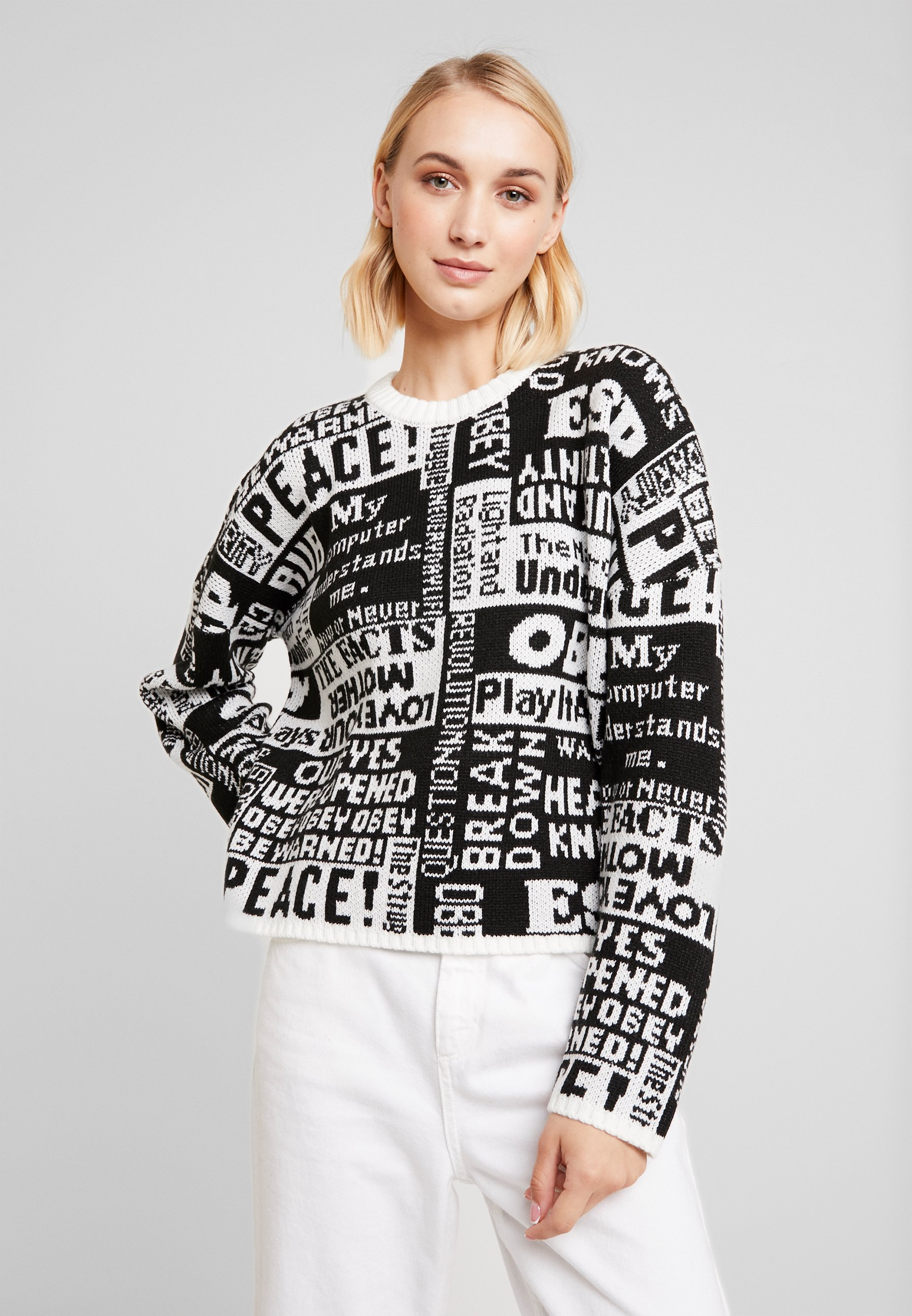 Obey CrewPullover Post Clothing Black Multi xoQrBeCWd