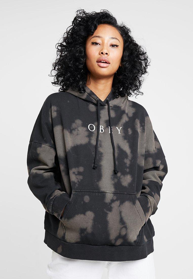 Obey Clothing - NIGHT MOVES HOOD - Hoodie - black bleach