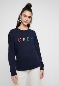 Obey Clothing - NOVEL - Mikina - deep navy/rainbow - 0