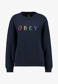 Obey Clothing - NOVEL - Mikina - deep navy/rainbow - 3