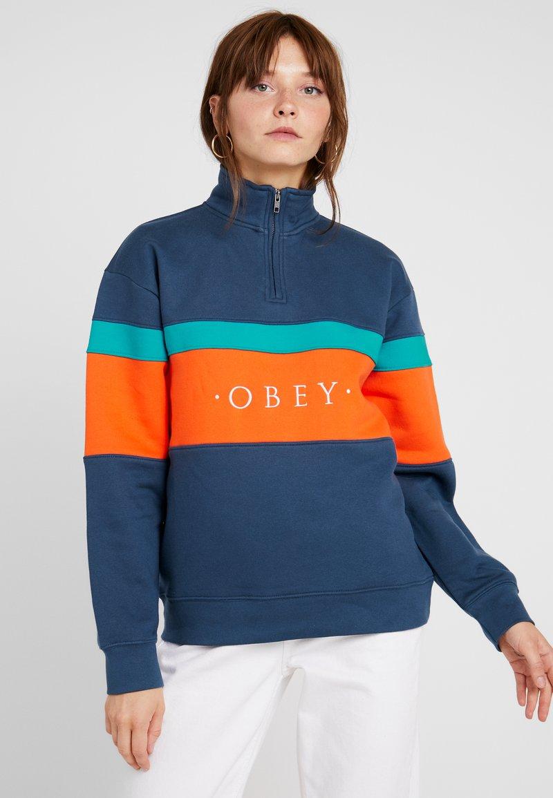 Obey Clothing - LASSEN HALF ZIP - Sweatshirt - navy/multi