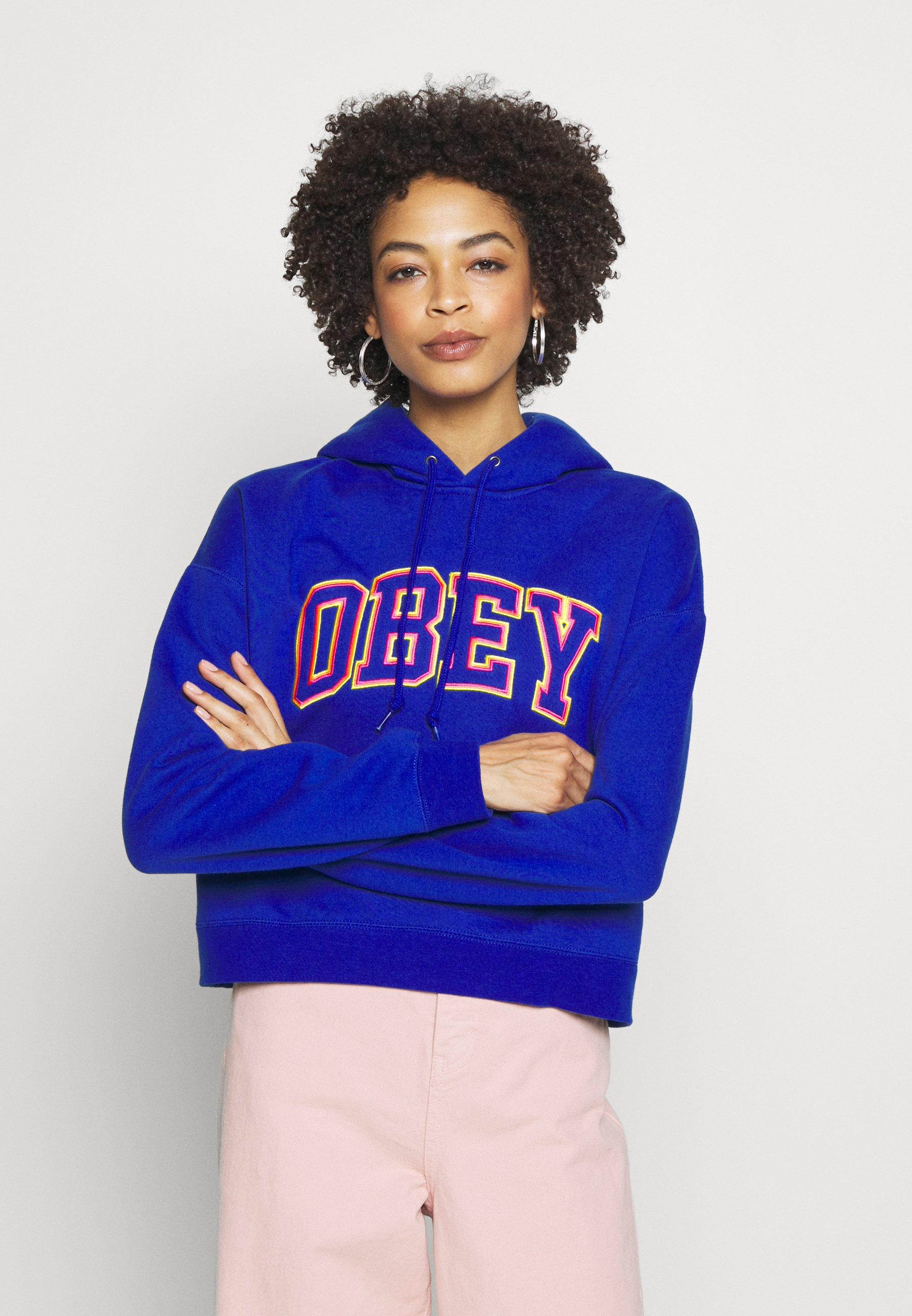 Obey Clothing CONRAD CROPPED HOOD - Hoodie - cobalt