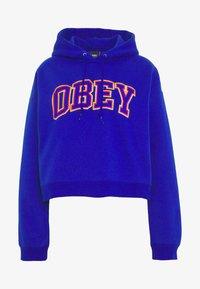 Obey Clothing - CONRAD CROPPED HOOD - Mikina skapucí - cobalt - 4