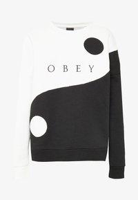 Obey Clothing - DARKSIDE CREW - Mikina - bone/black - 3