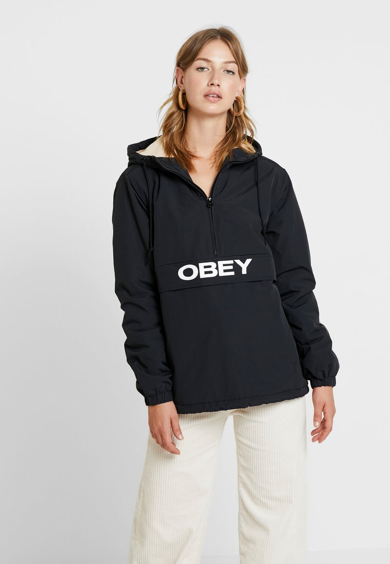 Obey Clothing - BRUGES ANORAK - Übergangsjacke - black