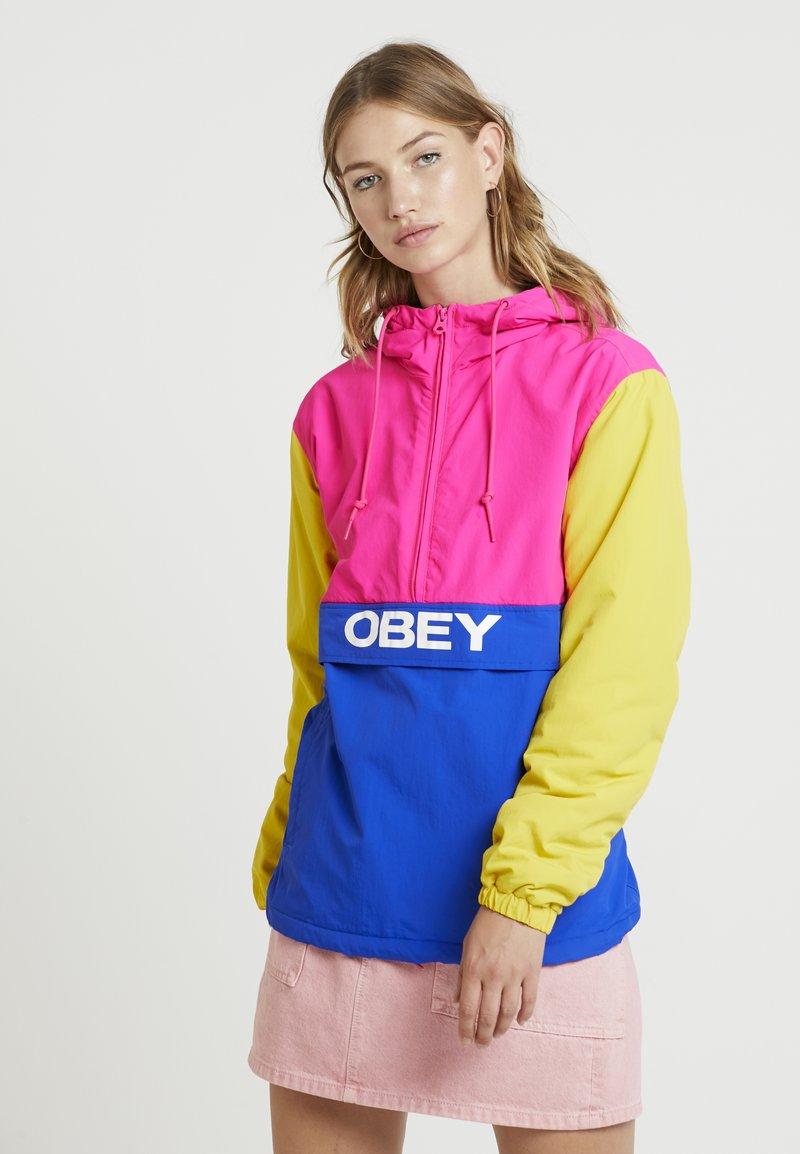 Obey Clothing - BRUGES ANORAK - Light jacket - pink/cobalt