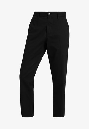 STRAGGLER FLOODED PANT - Broek - black