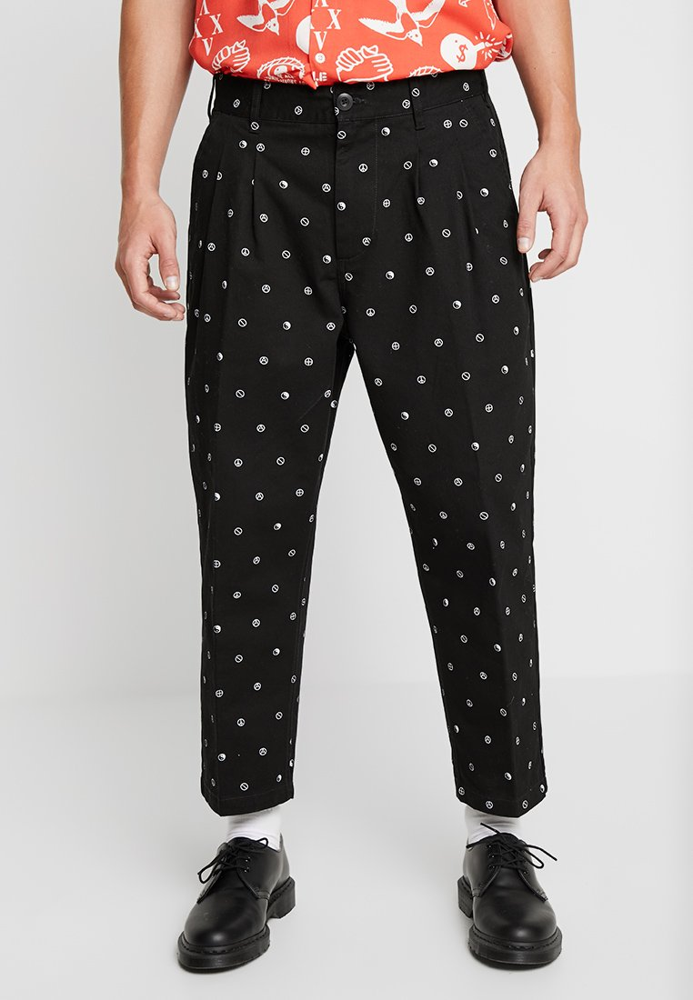 Obey Clothing - FUBAR PLEATED PRINTED PANT - Trousers - black