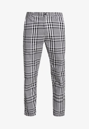 STRAGGLER PLAID FLOODED PANT - Pantalones chinos - black