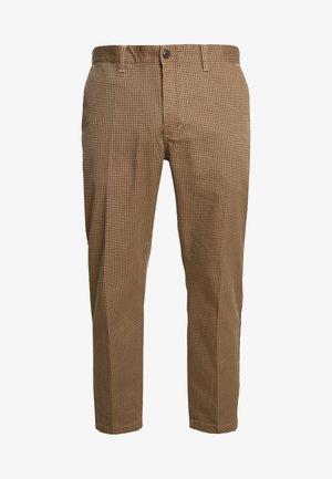 STRAGGLER HOUNDSTOOTH - Chino kalhoty - khaki