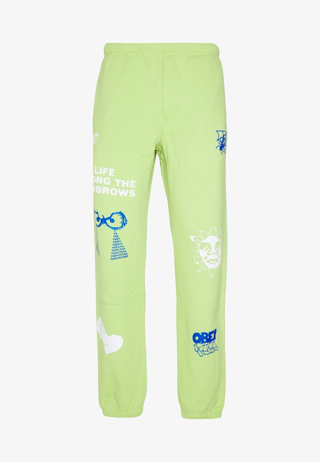 CHOSEN ALL EYEZ - Pantalones deportivos - key lime