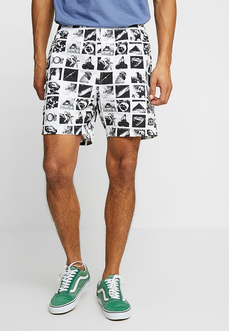 Obey Clothing - EASY CHAOS  - Shorts - zine white