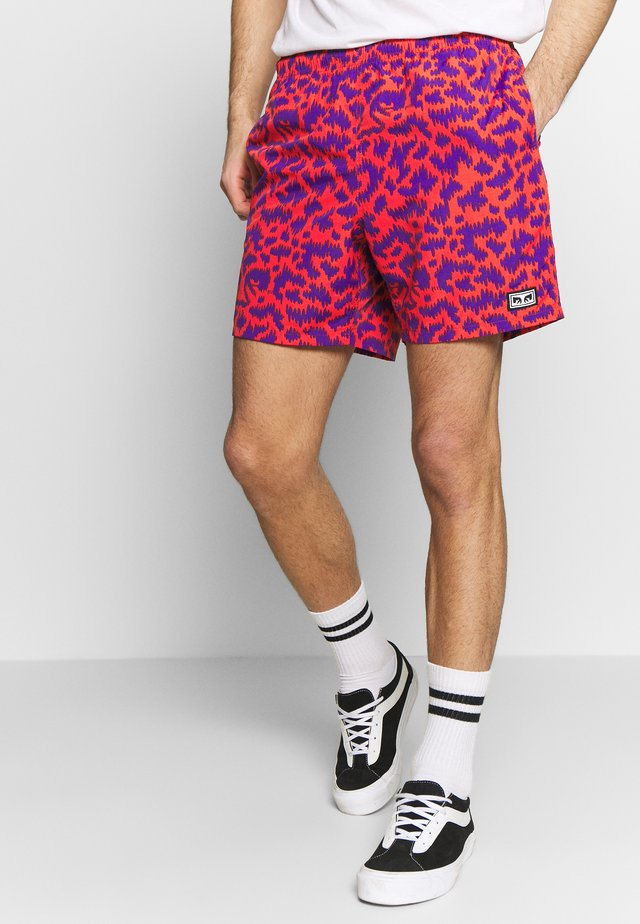EASY RELAXED FUZZ SHORT - Shorts - red multi
