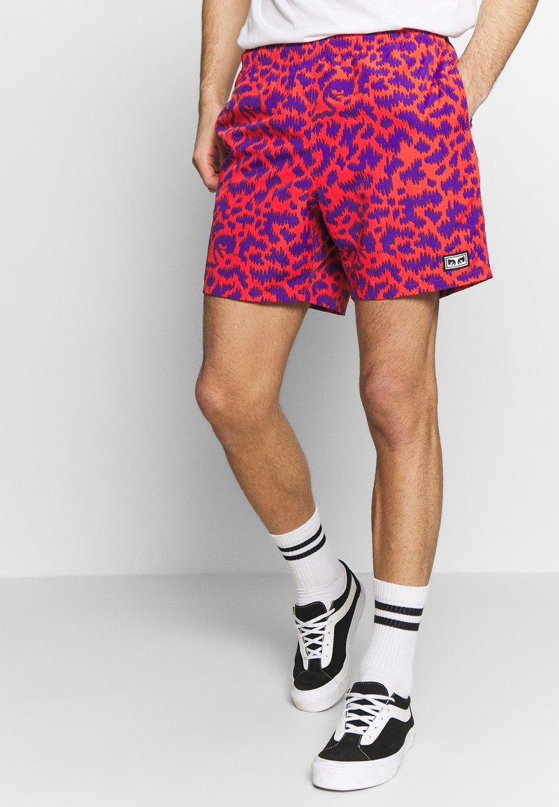 Obey Clothing - EASY RELAXED FUZZ SHORT - Shorts - red multi