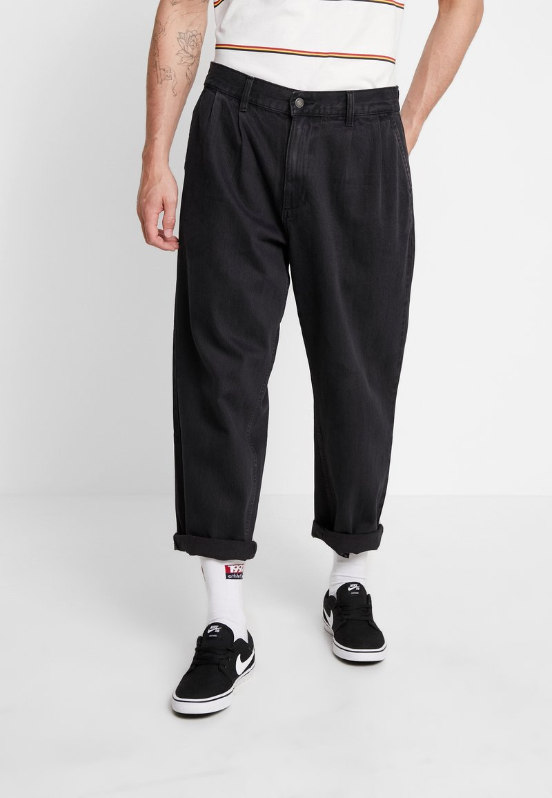 Obey Clothing - FUBAR PLEATED - Relaxed fit jeans - dusty black