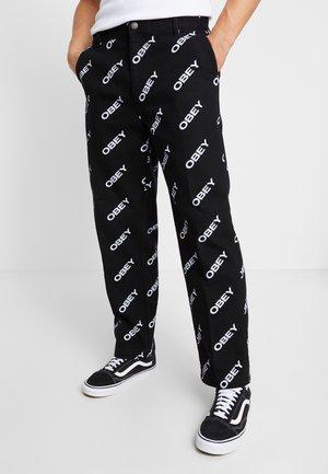 HARDWORK DYNAMITE LABOR - Jeans a sigaretta - slanted black
