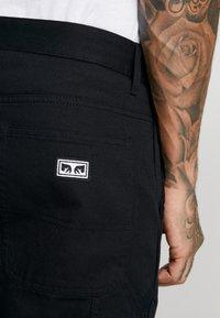 Obey Clothing - HARDWORK CARPENTER PANT  - Jeans straight leg - black - 4