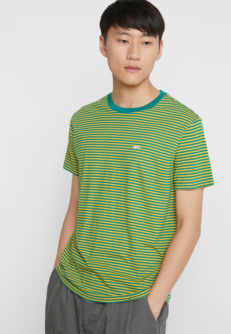 Obey Clothing - APEX TEE - Print T-shirt - yellow/green
