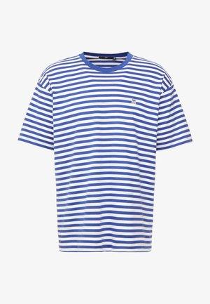 ICON STRIPE BOX TEE - Camiseta estampada - blue multi