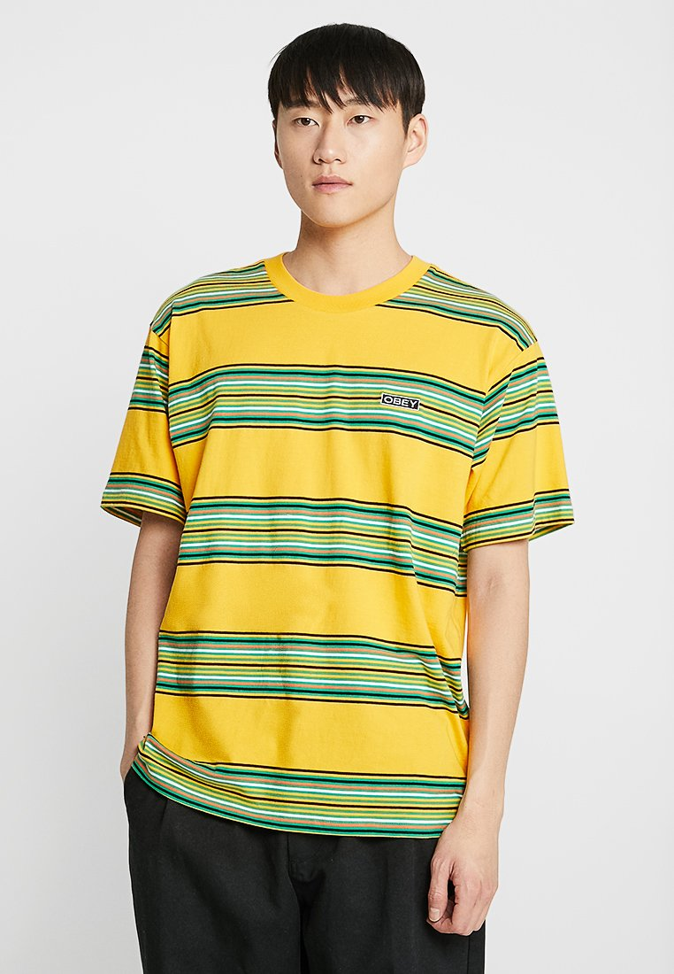 Obey Clothing - ROUTE CLASSIC TEE - T-shirt con stampa - yellow/multi-coloured