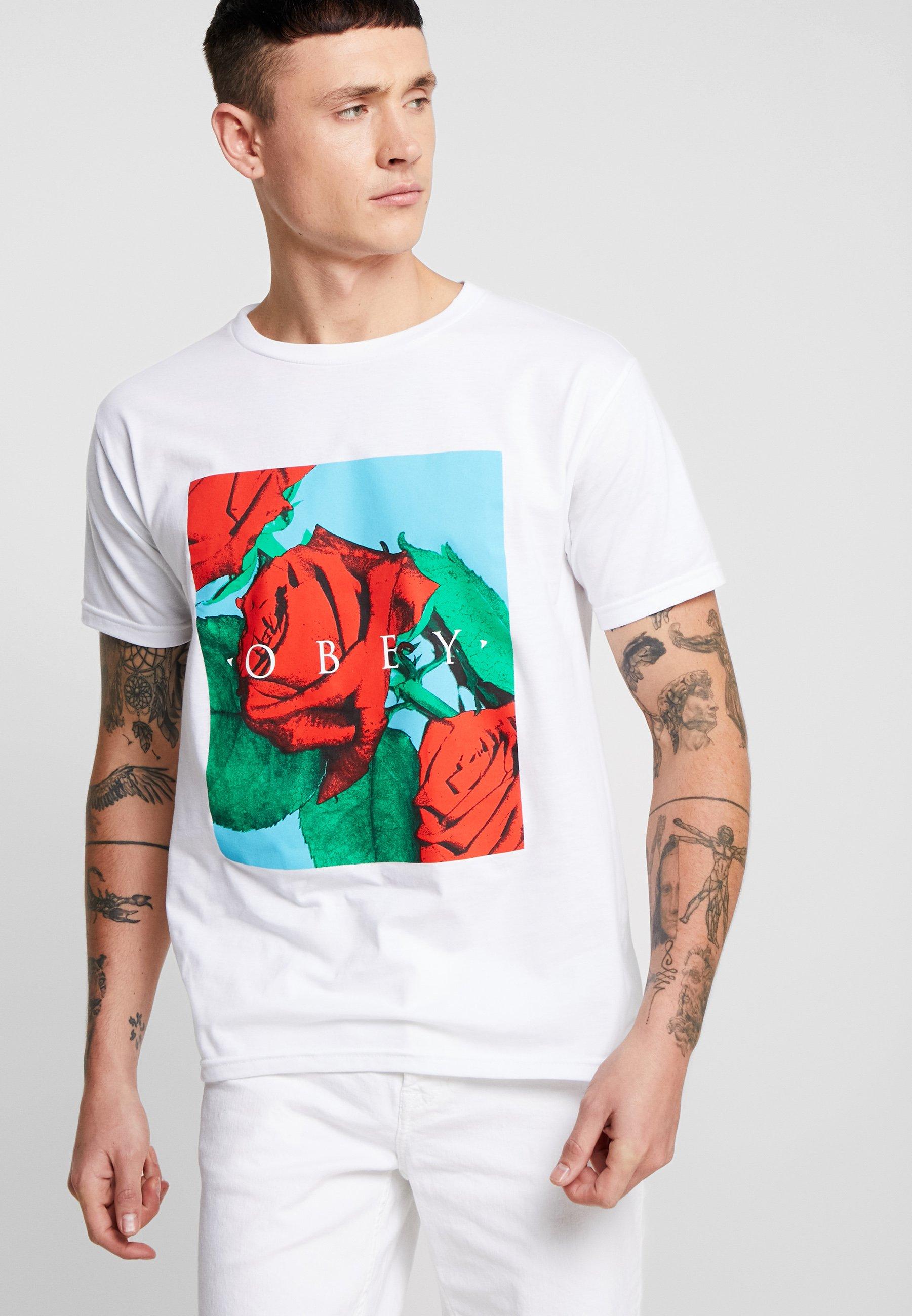 Obey Clothing NO LOVE LOST - Camiseta estampada white multi
