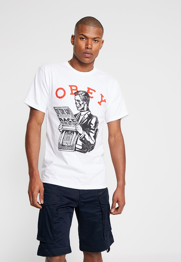 Obey Clothing - RACE TO THE BOTTOM - T-Shirt print - white