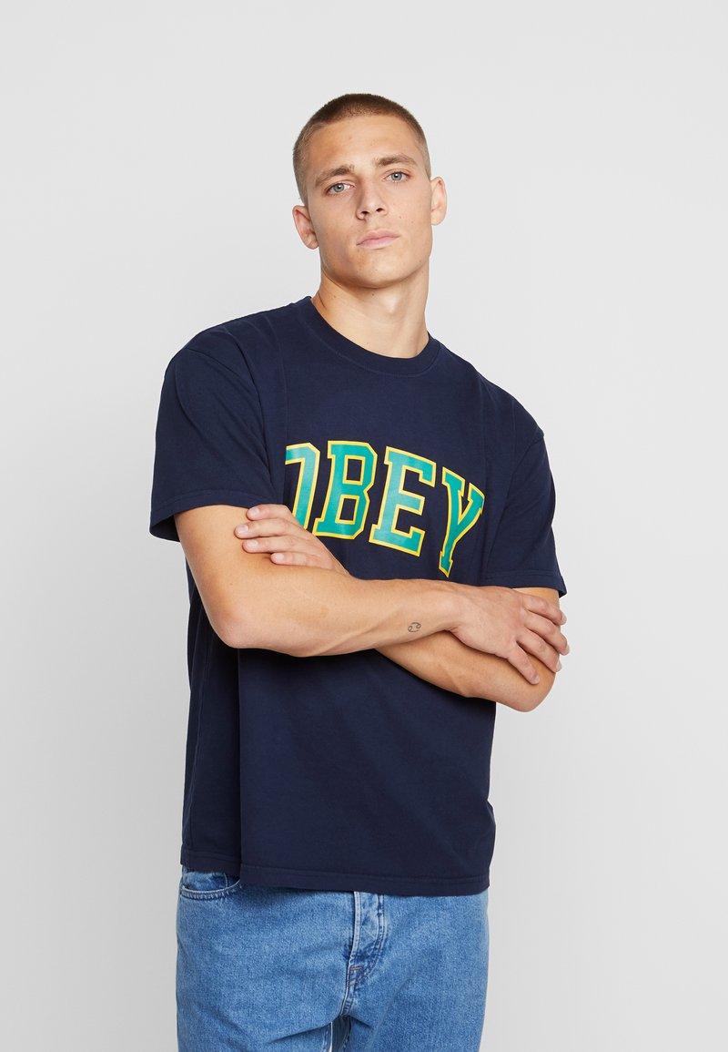 Obey Clothing - ACADEMIC - Camiseta estampada - navy