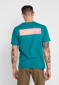 Obey Clothing - DEPOT - Print T-shirt - teal - 0