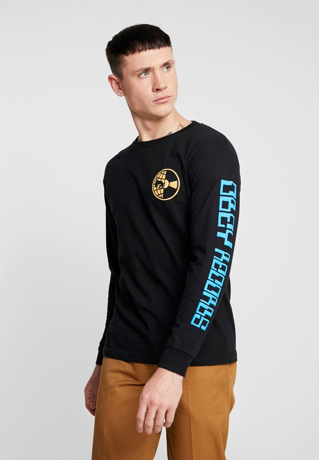 WORLDWIDE RECORDS - Long sleeved top - black